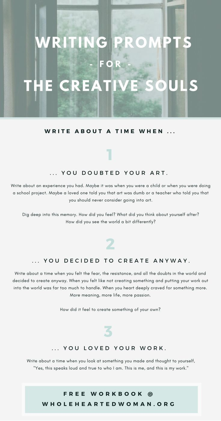 Workbooks the creative visualization workbook : Free Writing Prompts For The Creative Soul | Free Resource ...