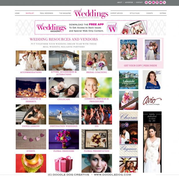 Real Weddings Website Design, Wedding Blog Design, Modern