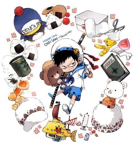 chibi law pp のイラスト pixiv anime one piece one piece dễ thương