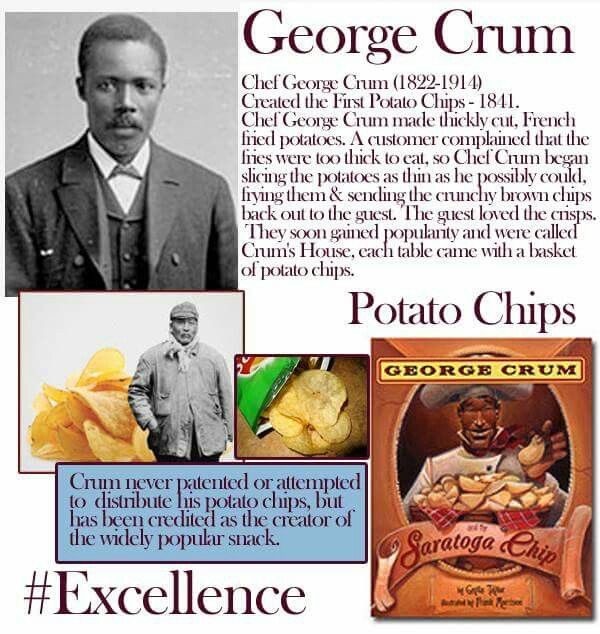 George Crum Potato Chip Creator Black History Activities African American History Month Famous People In History