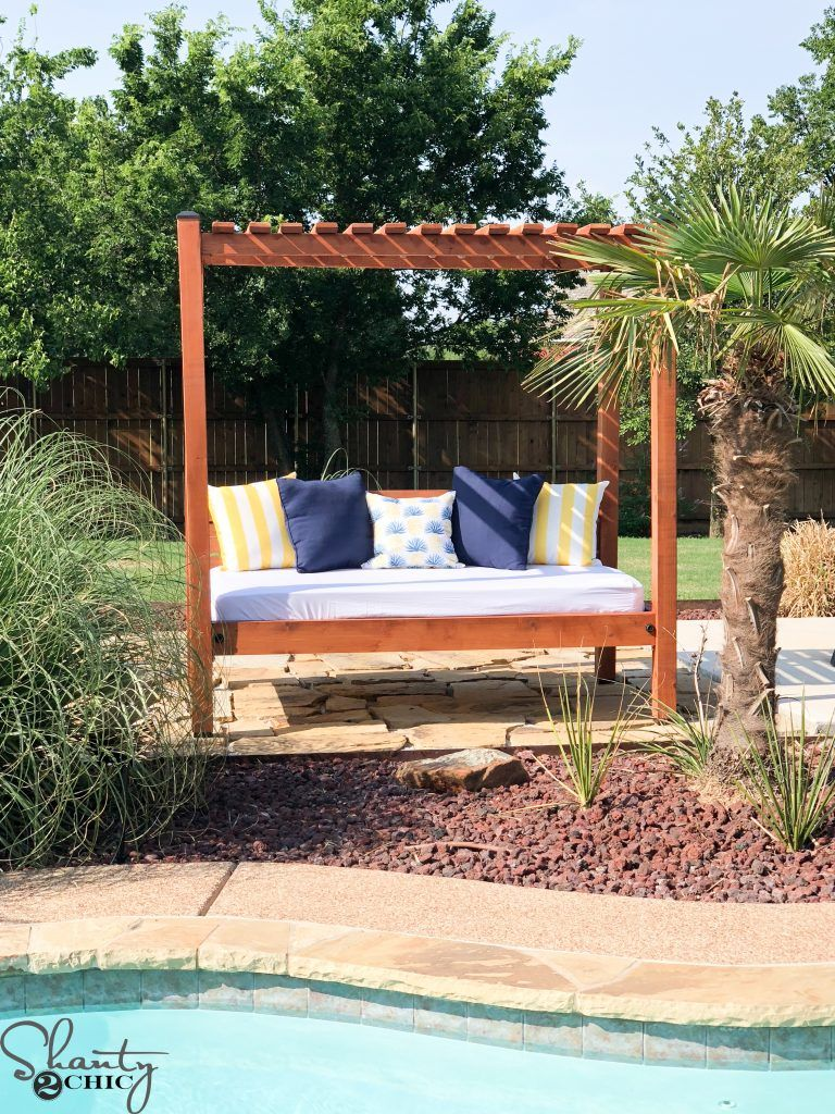 Diy outdoor day bed diy bed free plans woodworking tools barn wood