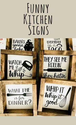 Signs like these always make me chuckle! Great Mother's Day gift idea! Home decor, Kitchen decor, kitchen sign, farmhouse decor, farmhouse sign, rustic sign, rustic decor, funny wall decor #ad #diywalldecor