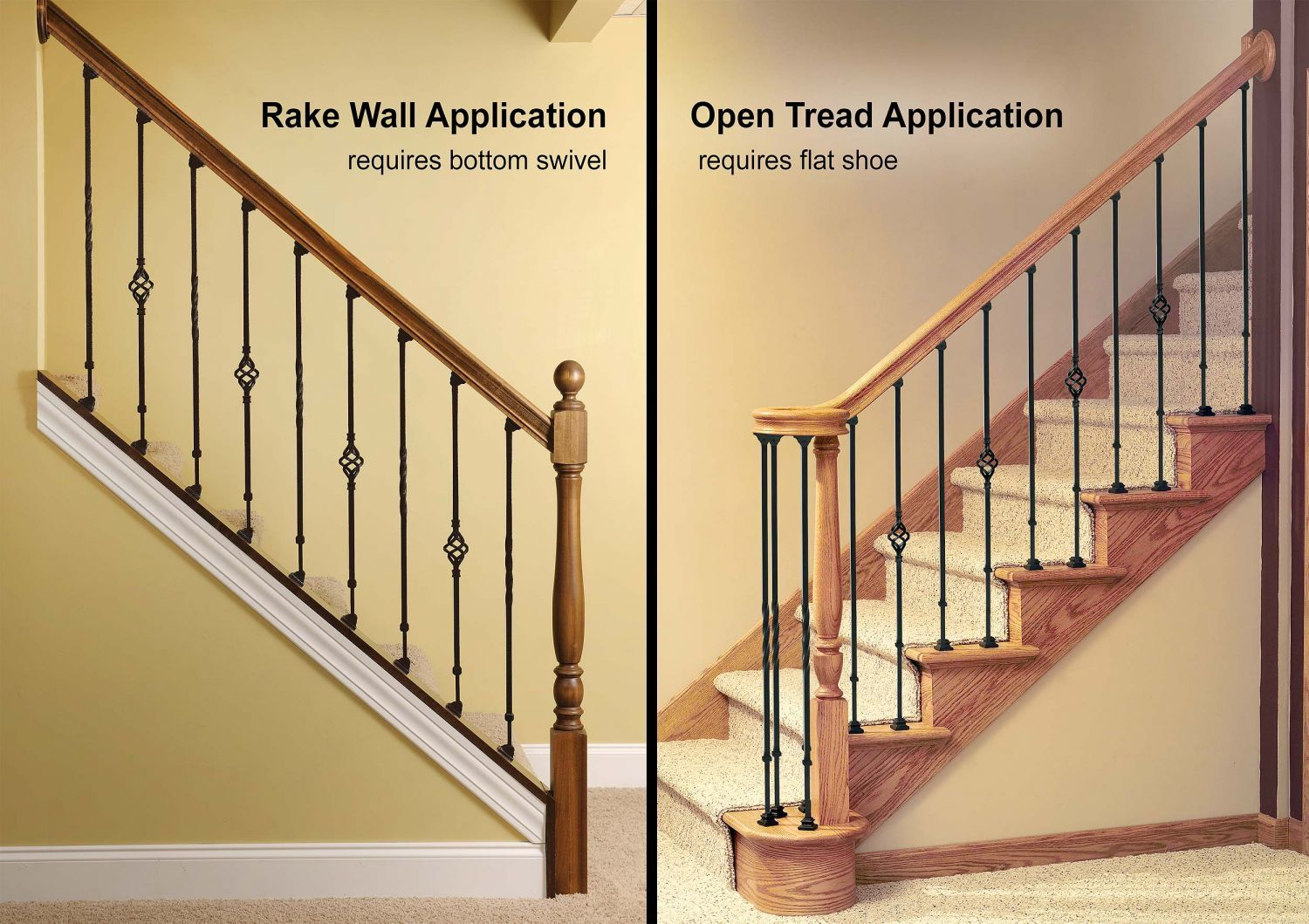 Click To Enlarge This Image Banister Remodel Knee Wall Stair Banister