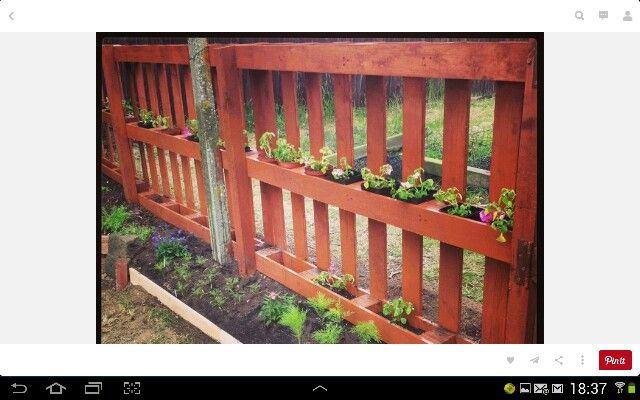 Jardin cerco con palets