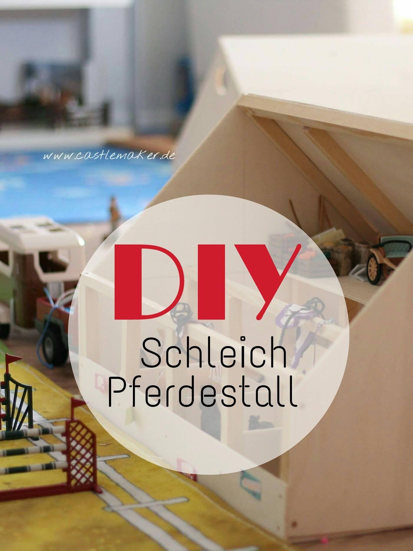 DIY Wir bauen einen Schleich Pferdestall + Reithalle   ~Chloe~ <3 ...