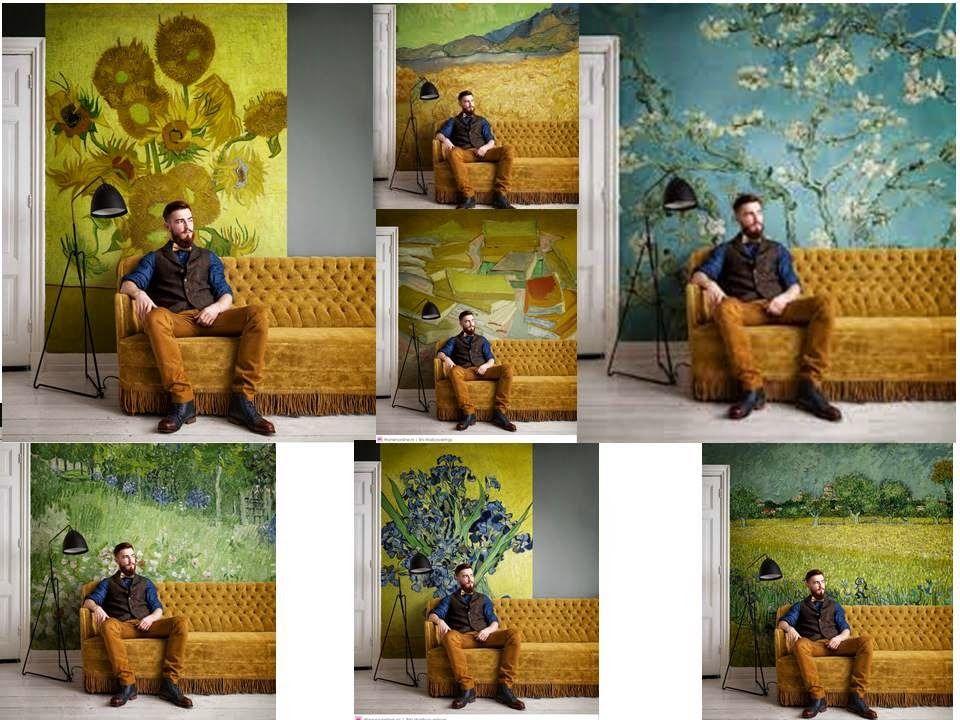 Van Gogh Behang : Behang vincent van gogh van bn wallcoverings living room