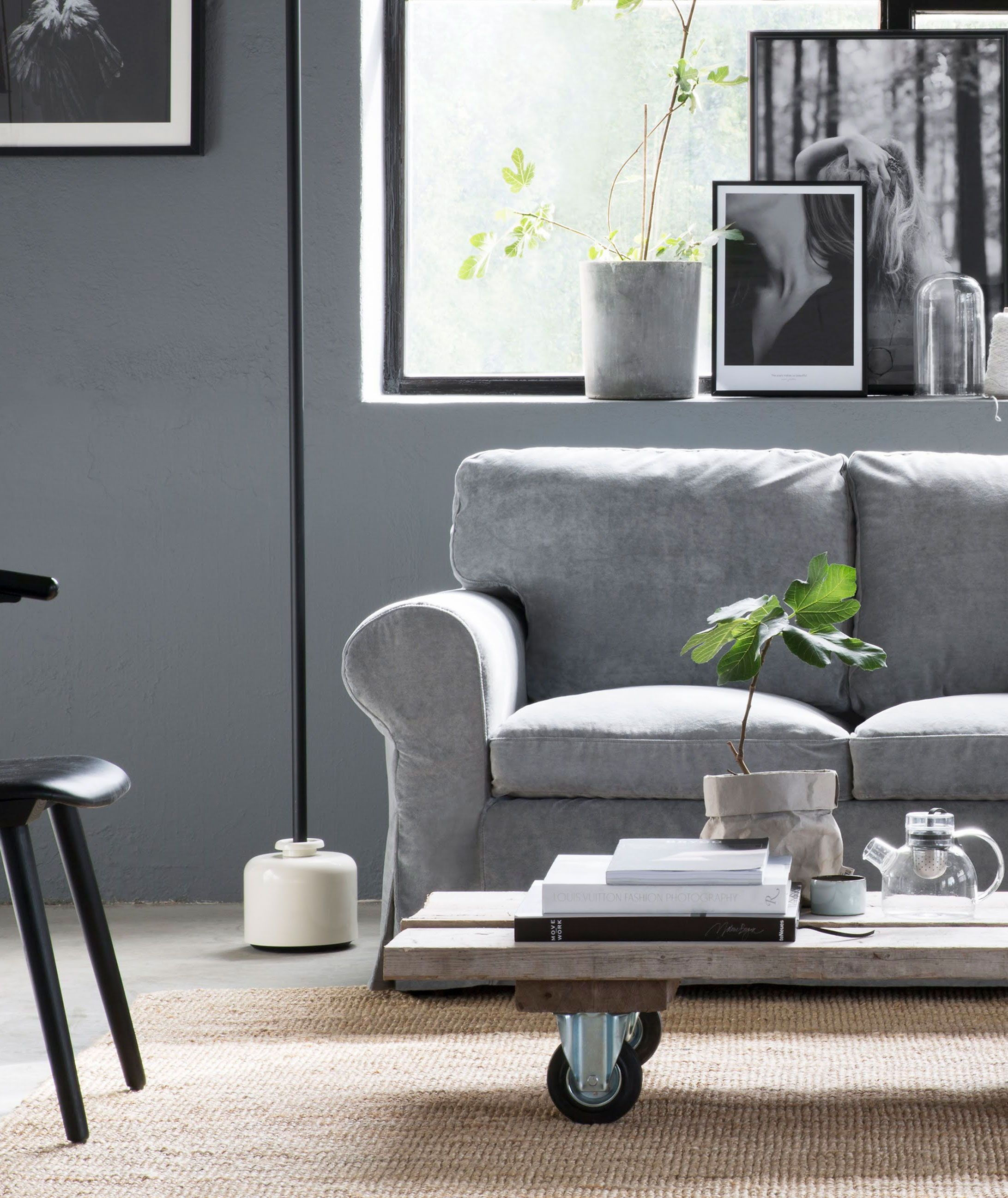 Ektorp Sofa Dark Grey Ektorp 3 Seater Sofa Cover Without Piping In 2019 Industrial