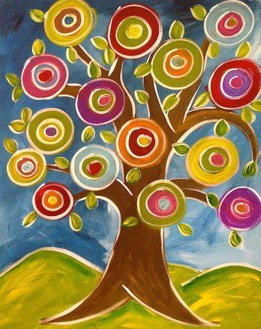 Wassily Kandinsky tree...