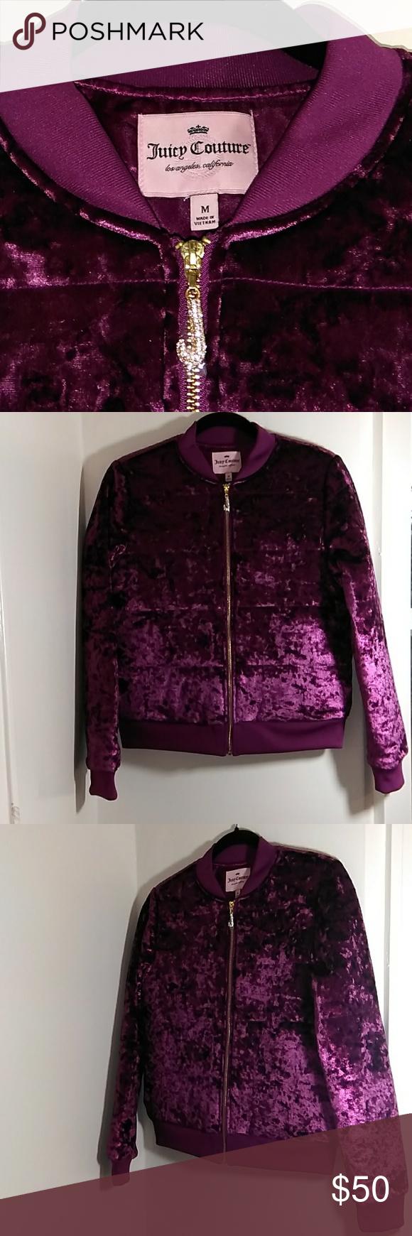 Juicy Couture Purple Bomber Jacket Size M Rn 73277 Juicy Couture Puple Velvet Size M Zip Up Velvet Satin Lined Purple Bomber Jacket Juicy Couture Bomber Jacket [ 1740 x 580 Pixel ]