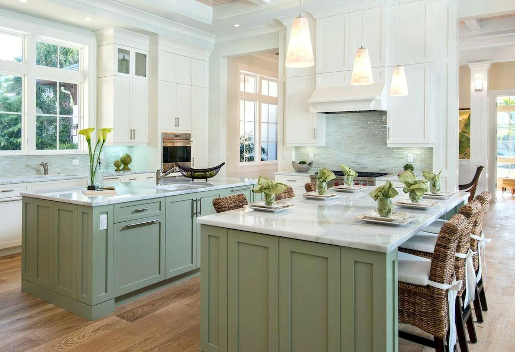 9 Awesome Sage Greens kitchen Cabinets Decorating   Yellowraises ...