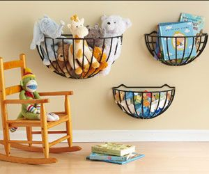 could hang these with command hooks above ZZ's bed and in the kid hangout room for storage....very cute, easy to hang w/o drilling into the wall...