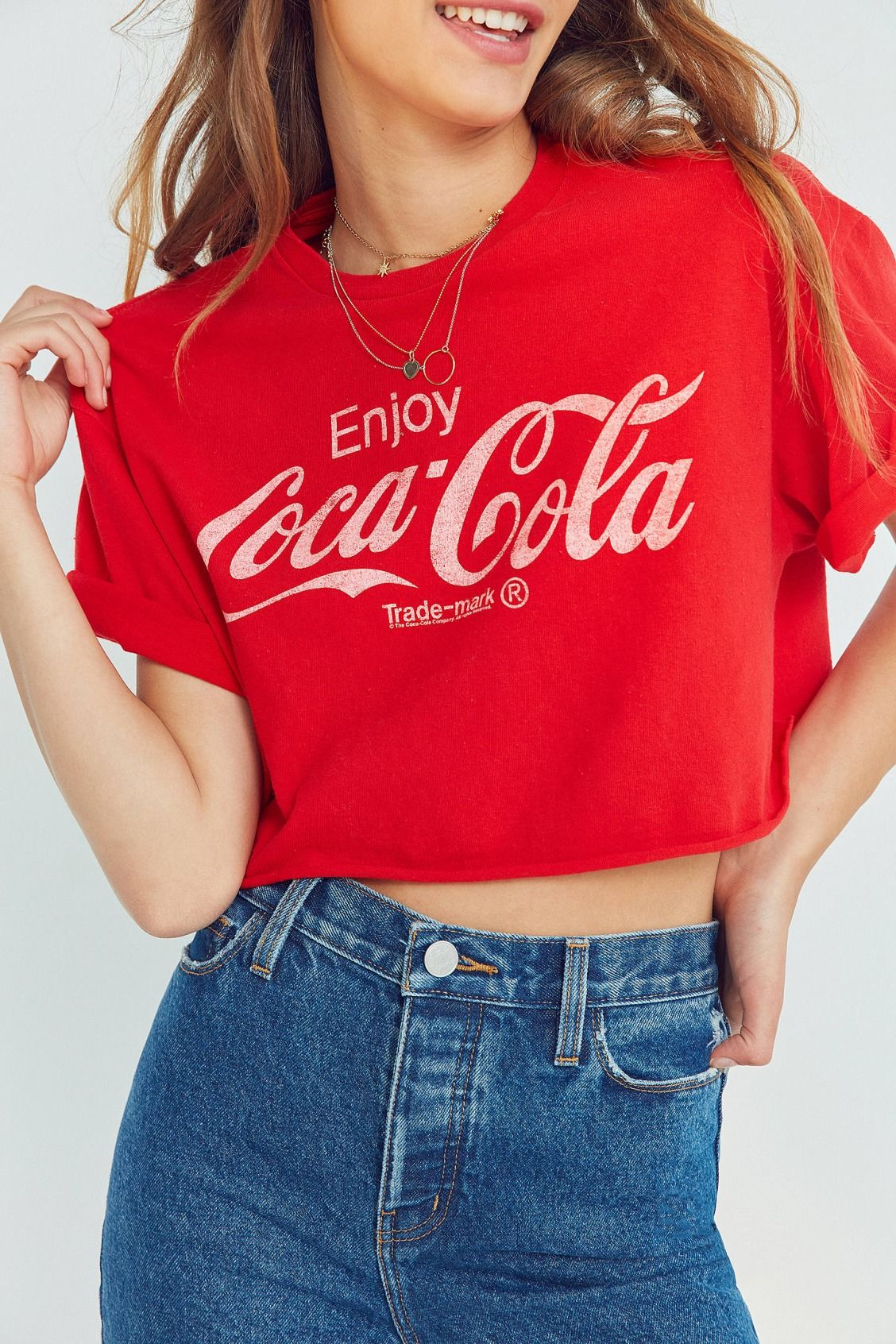 15e7efc53d2bc Slide View  1  Junk Food Coca-Cola Cropped Tee