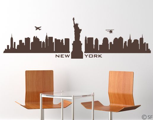 Wandtattoo New York Skyline (uss053)