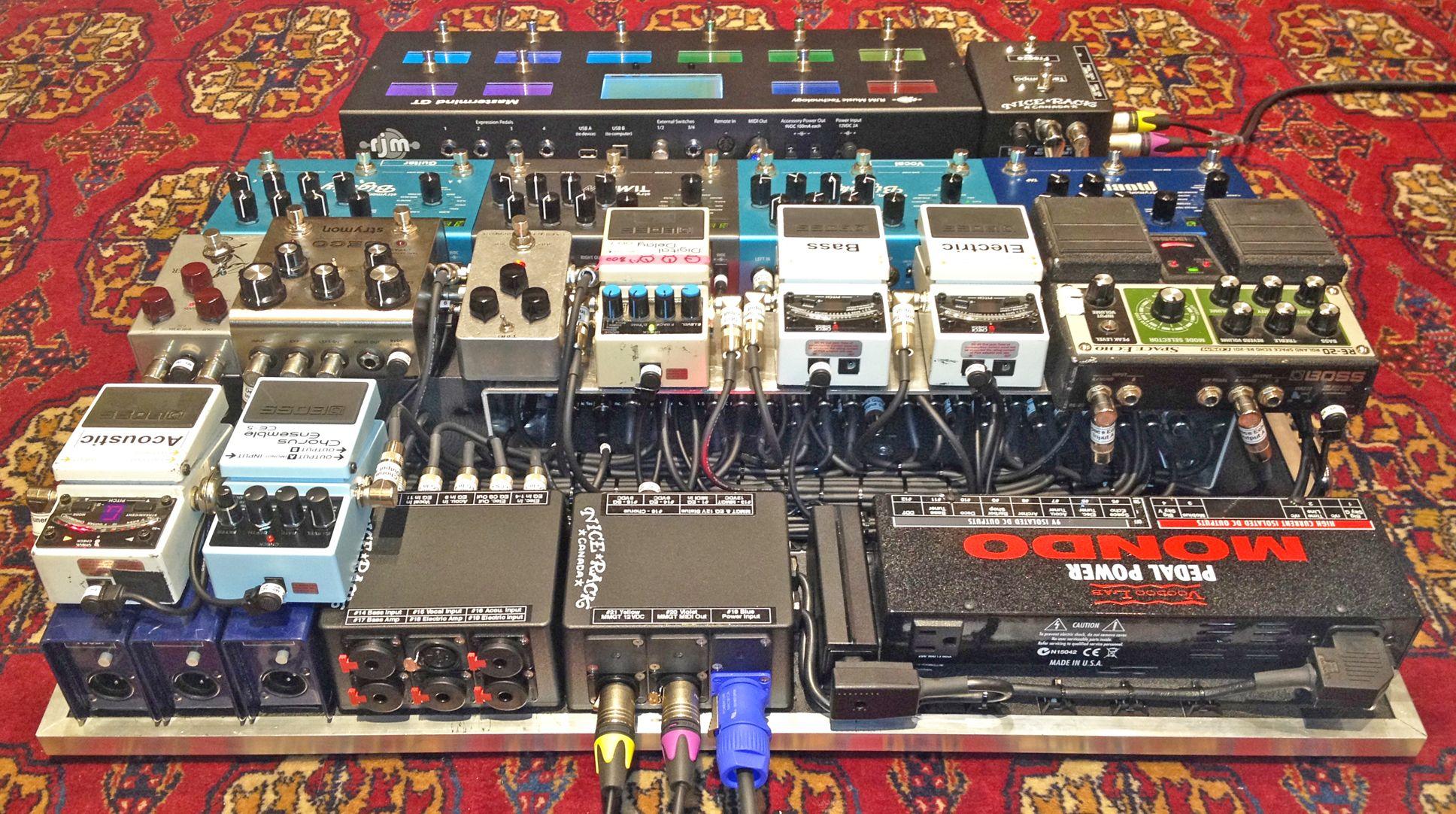 MIDI Controlled Pedalboard for Devon Portielje Half Moon Run Built by Nice Rack Canada Customer System Builds Pinterest