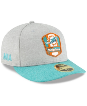 99526037 New Era Miami Dolphins On Field Low Profile Sideline Road 59FIFTY ...