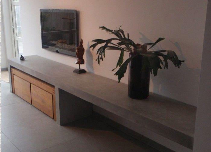 mooie betonlook tv meubel woonkamer pinterest tv tv kast en