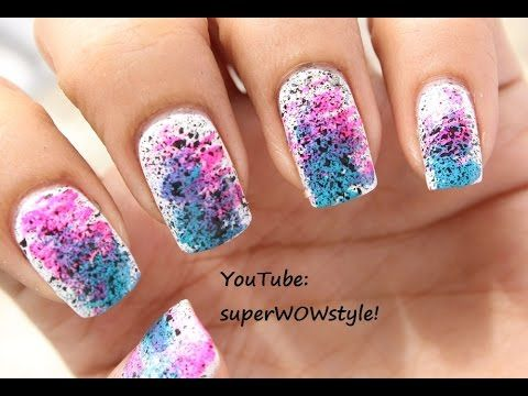 This is a Very Easy Nail Art for BEGINNERS! ❥ With this Very Easy Nail  Designs Tutorial, you will learn a quick beautiful, colorful design to do  yourself ... - NO DRAWING !! Very Easy Nail Art - BEGINNERS !! Very Easy Nail
