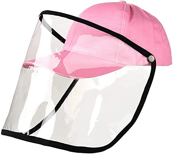 Ooeoo Safety Face Shields Anti Spitting Protective Hat Cover Outdoor Fisherman Hat Adjustable Size Pink Amazon Face Shield Hat Face Shield Fisherman Hat