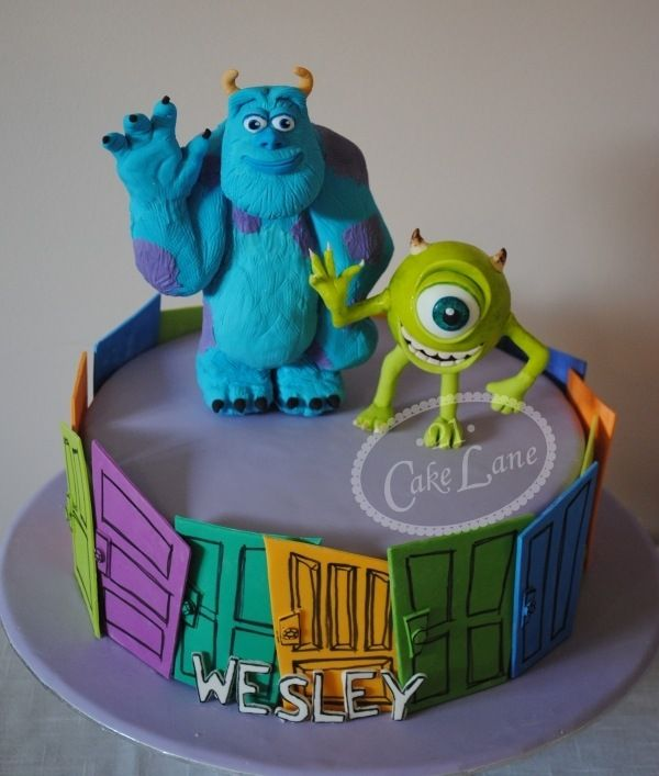 Amazing Great Monsters Inc Birthday Cake With Images Monster Inc Funny Birthday Cards Online Hendilapandamsfinfo