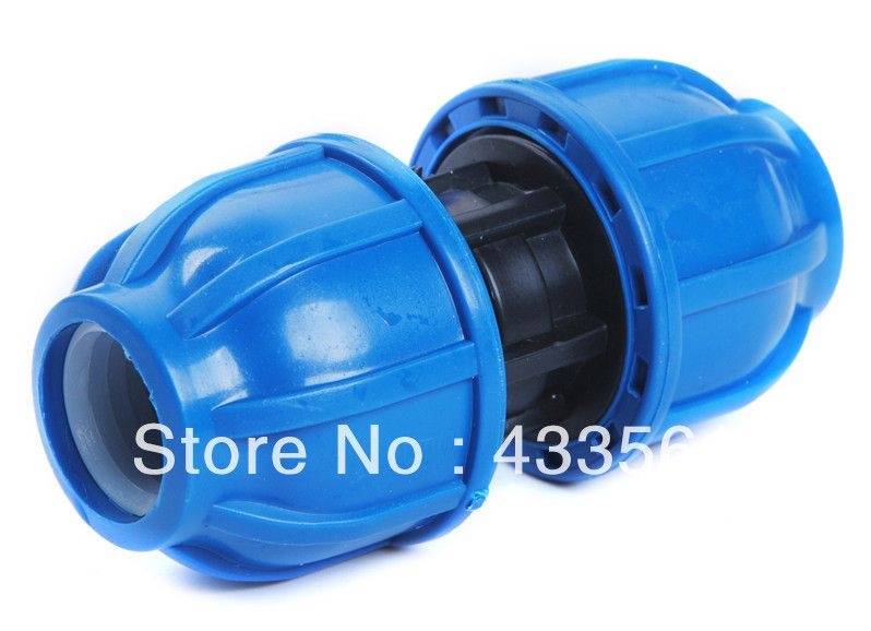 Quality Pp Compression Coupler Fittings With Round Cap Size Dn20 For Water Pipeline Application In Ear Headphones Water Pipeline Fittings