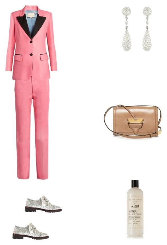 """Grace"" by zoechengrace on Polyvore featuring Gucci, Loewe, Colucci Diamonds, The Laundress and Anouki"