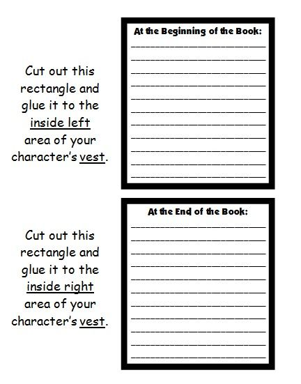 character body book report project: templates, worksheets, rubric, Powerpoint templates
