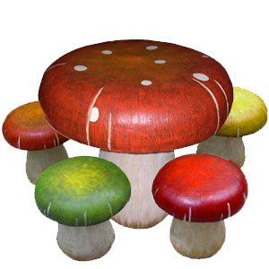 Kids Fun Mushroom Table and Toadstool Chair Set I would love to have ...
