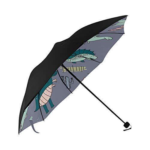 Beach Umbrella Cute Cartoon Baby Animation Dinosaur Underside Printing Cars Umbrella Sun Umbrella For Women Best Umbrella With 95% Uv Protection For Women Men Lady Girl #bestumbrella