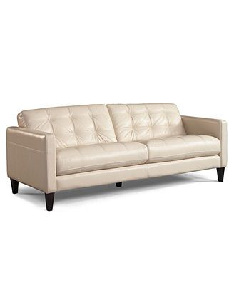 1239 Though 5 26 Milan Leather Sofa 86 W X 36 D 34 H Also In Chocolate