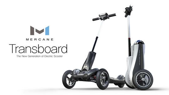 Transboard Foldable Electric Scooter Go 20 Miles At 20mph