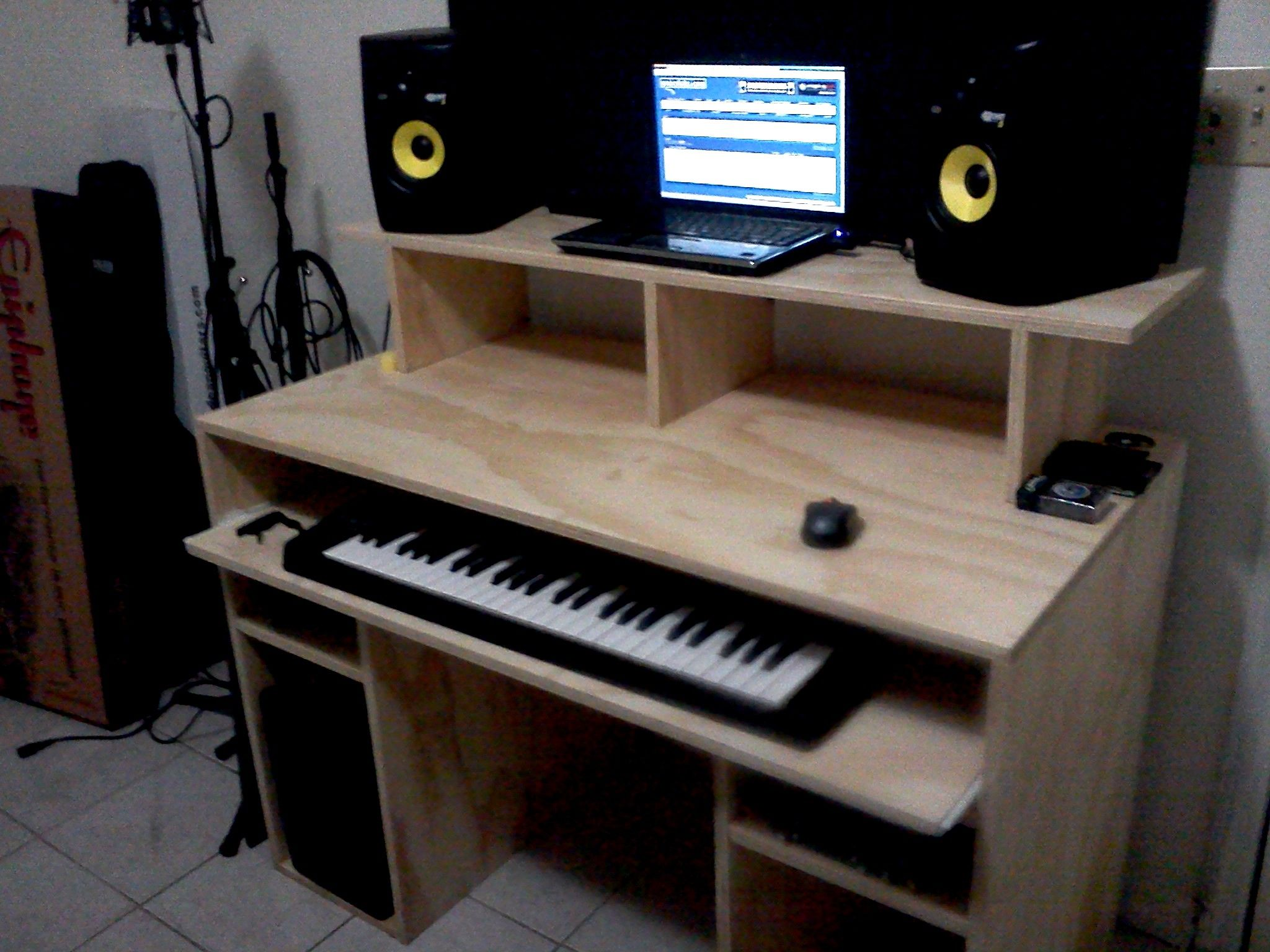 My DIY Recording Studio Desk - Gearslutz.com | Studio desk ...