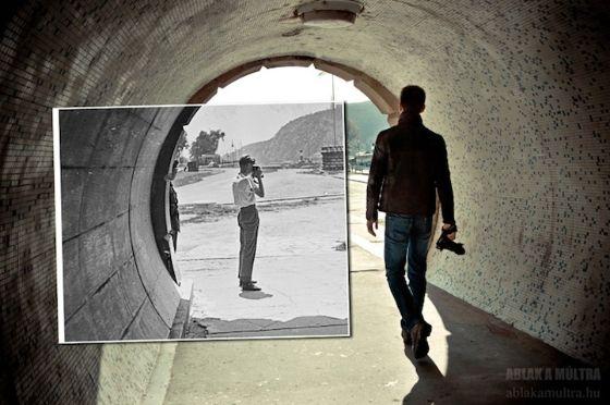 Fotografie geeft je de uitgelezen kans om het verleden en het heden met elkaar te verbinden. De Hongaarse fotograaf Kerényi Zoltán gebruikt oude amateurfoto's van de verzamelsite Fortepan uit Hongarije en Italie en voegt deze samen met zijn eigen hedendaagse fotografie. Hij zorgt er iedere keer voor dat de lijnen van raamkozijnen, tunnels of bouwwerken perfect in elkaar overlopen. Neem een kijkje door zijn 'Window to the past'.