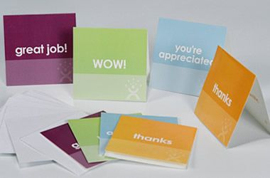 Little Note Cards with a Big Punch for Instant Employee Recognition with pizzazz!