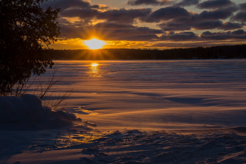 Sunset over Kangaroo Lake - Door County, Wisconsin
