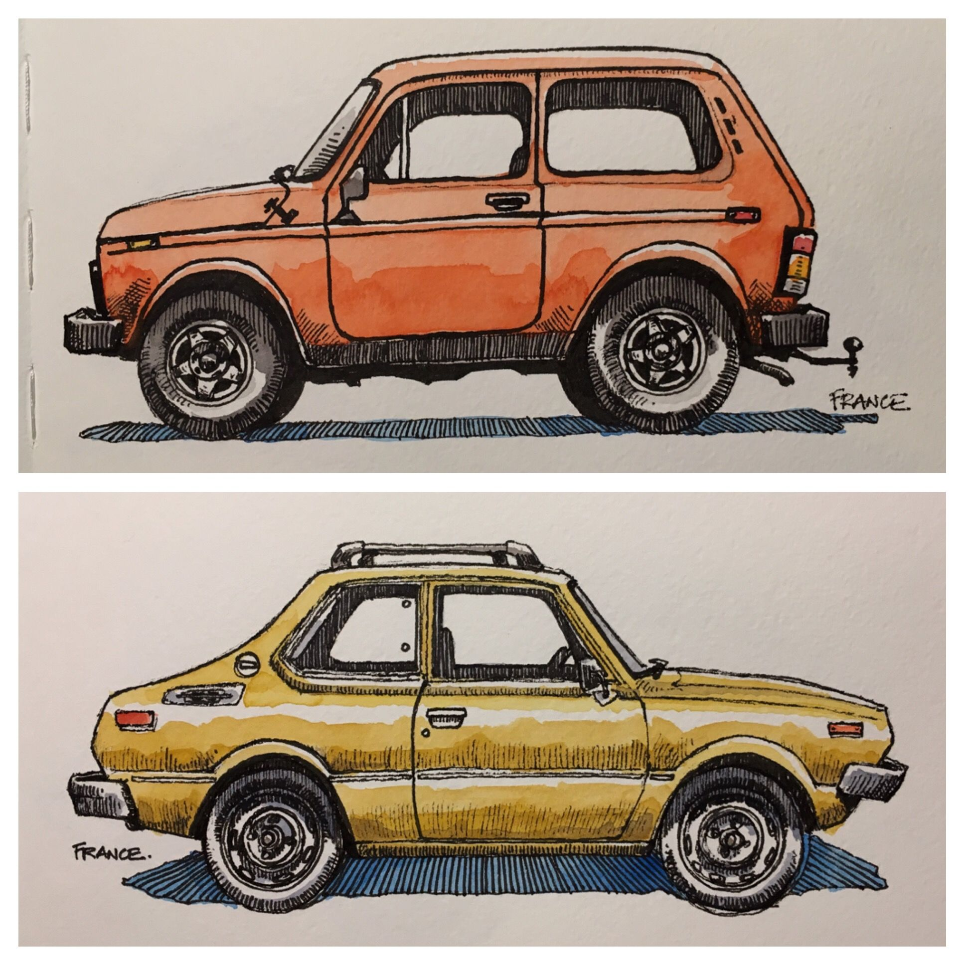 A Lada Niva And A Toyota Corolla By Wagonized Craziest Any Artist