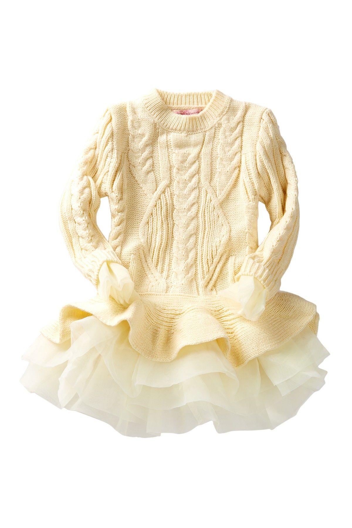 Paulinie Flounce Sweater Tutu Tunic