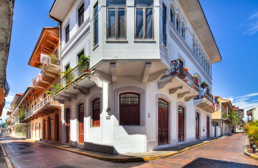 Colorful Casco Viejo Streets Panama City Panama Panama American Trade Hotel