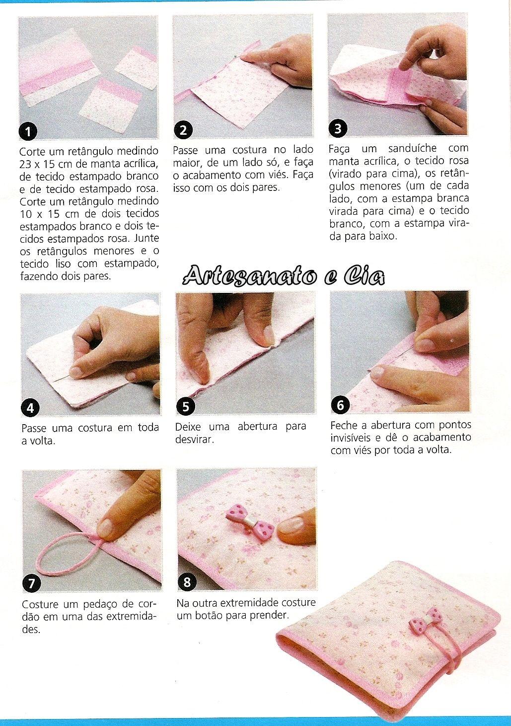 Artesanato A Mó ~ Artesanato e Cia Porta absorvente em tecido passo a passo molde feltro almofadas Pinterest