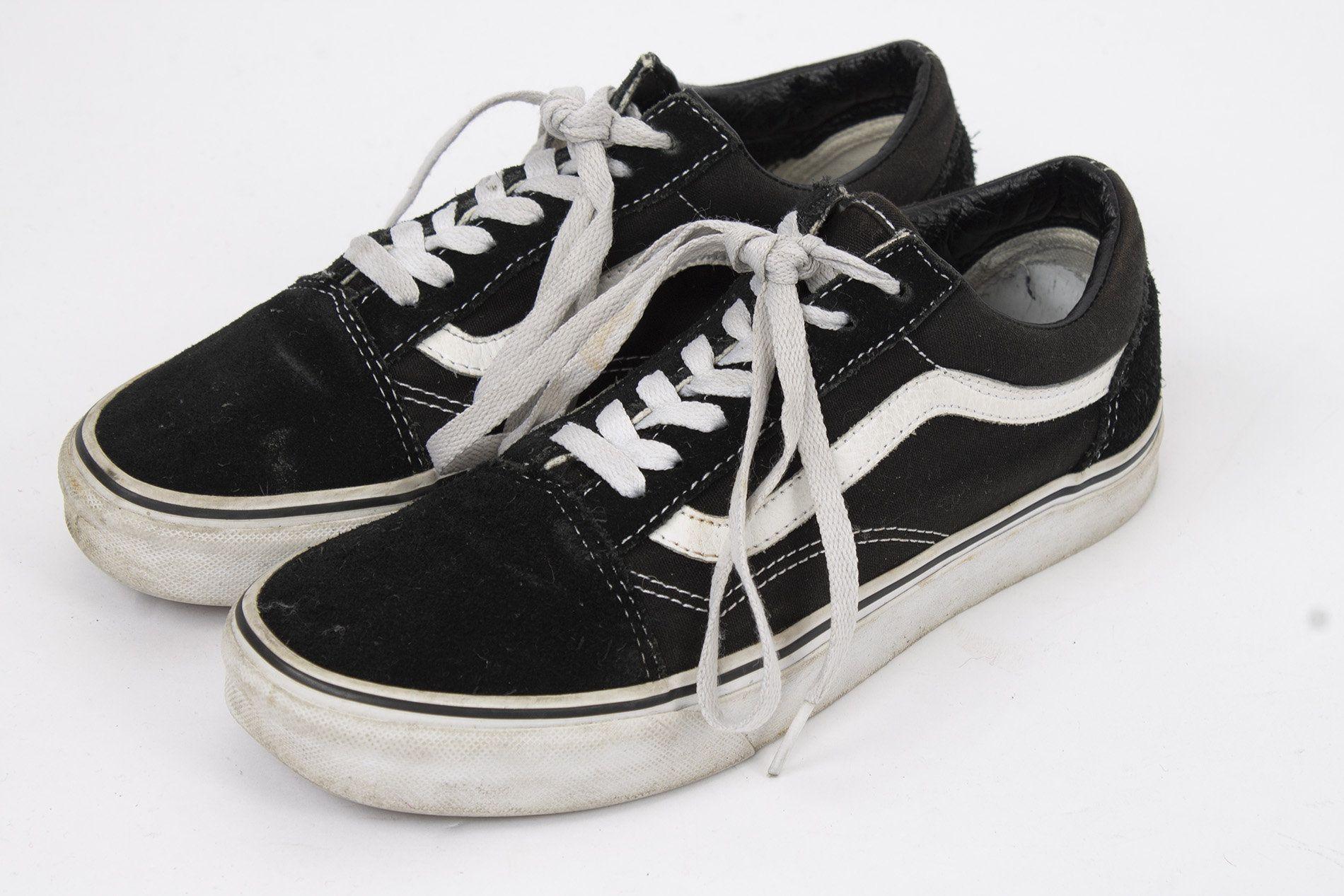US7.5 Black VANS off the Wall Sneakers