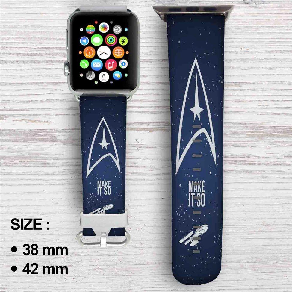 Star Trek Make it So Custom Apple Watch Band Leather Strap