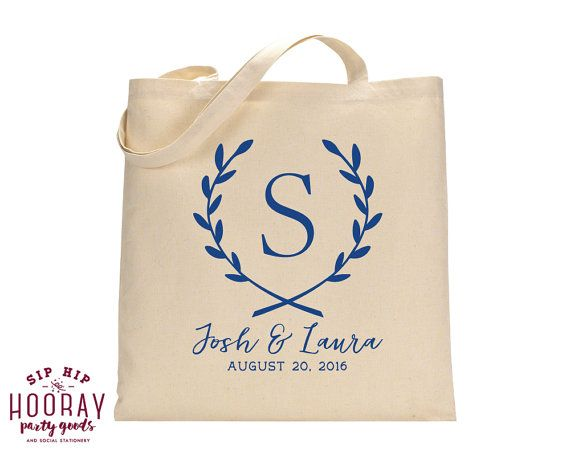 Monogrammed Bags Event Tote Wedding Totes Welcome Bag Event Bag Custom Tote Bag Monogrammed Tote Bags Wedding Favor Bags Totes 1548 by SipHipHooray