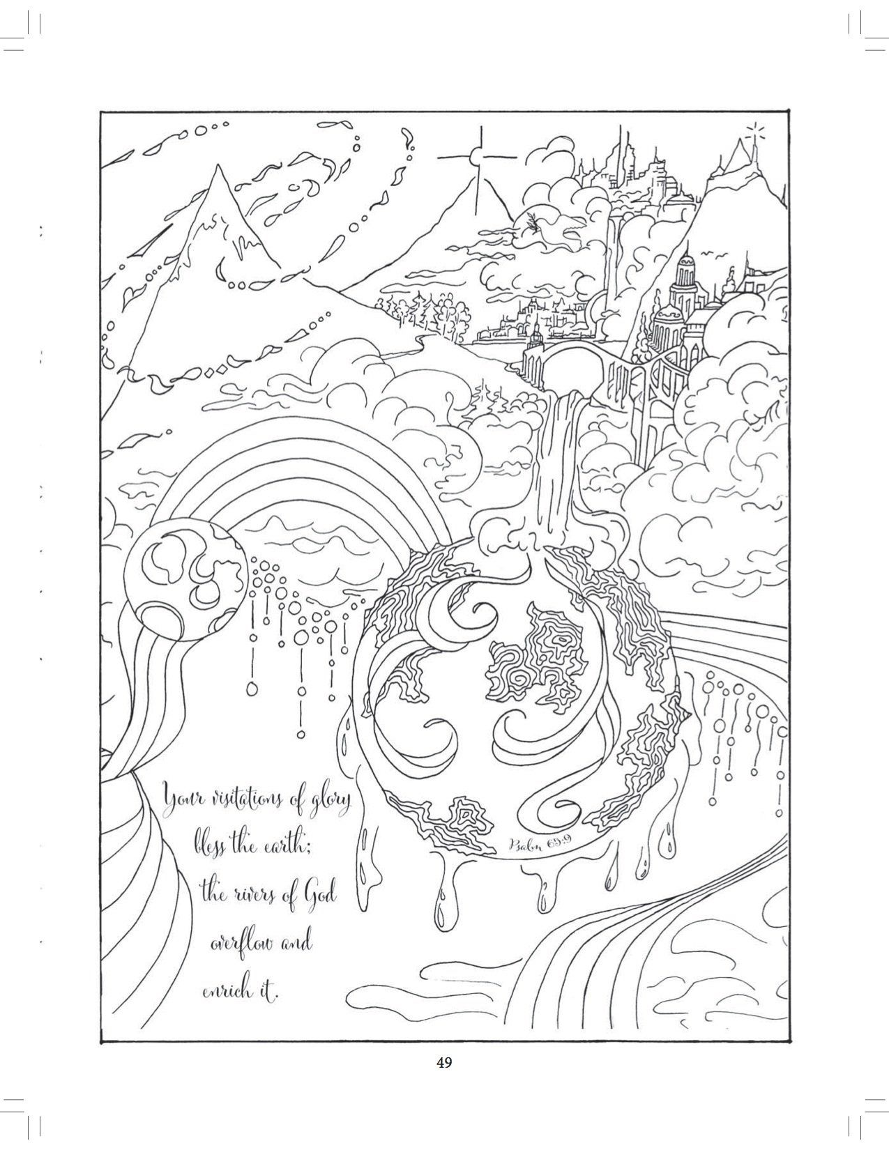 Beside Still Waters Coloring The Psalms Adult Coloring