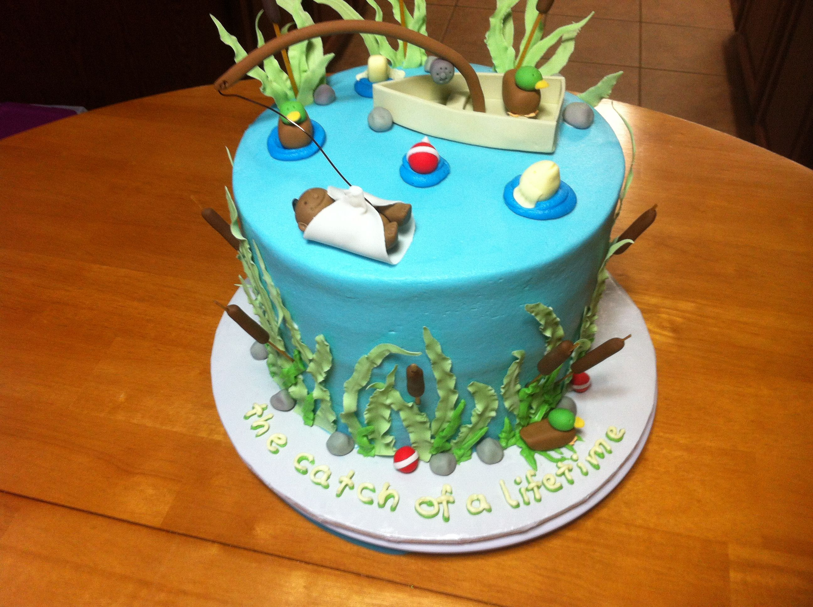 Fishing Baby Shower Cake Jenny Crocker Cakery Jenny Crocker Cakery