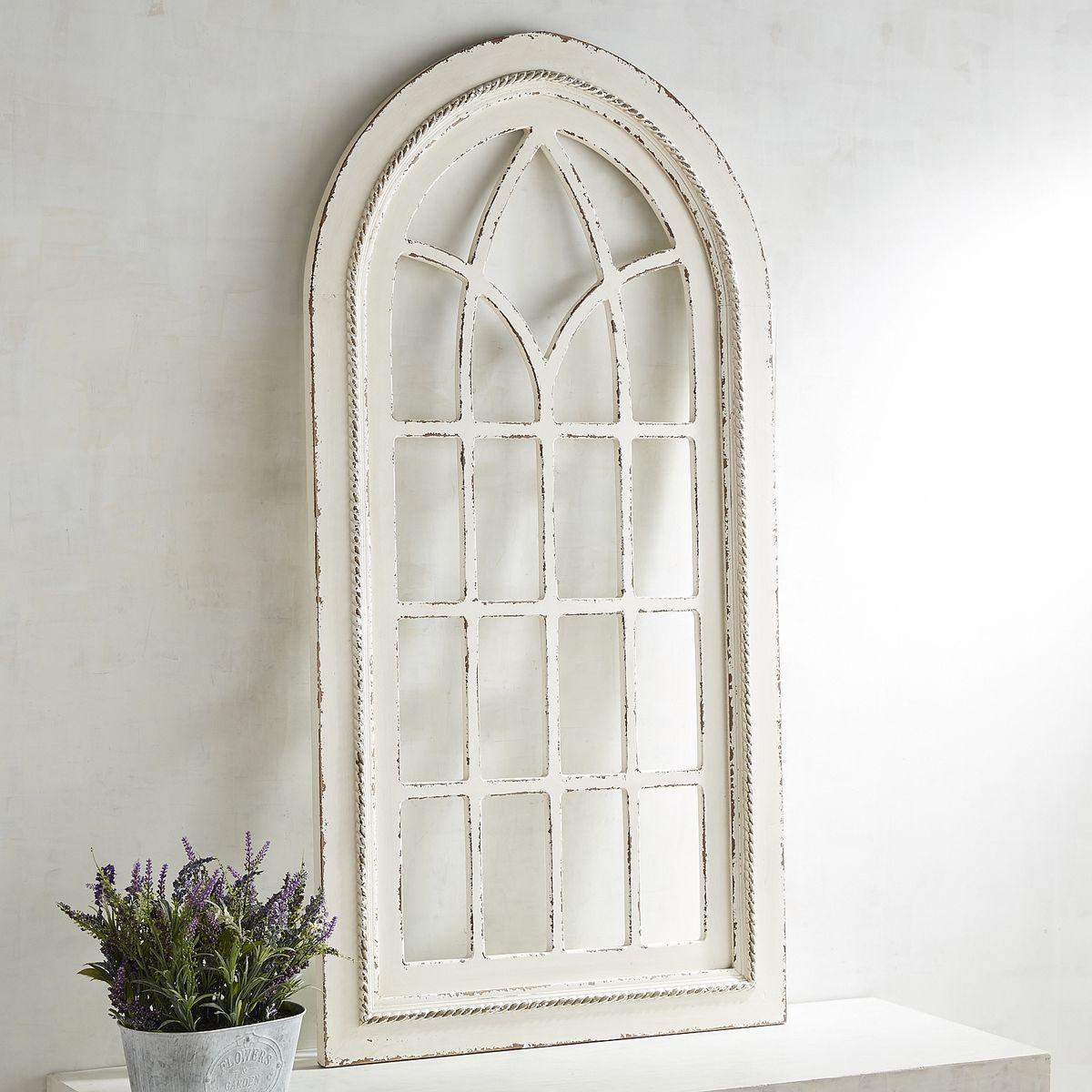 White Rustic Arch Wall Decor