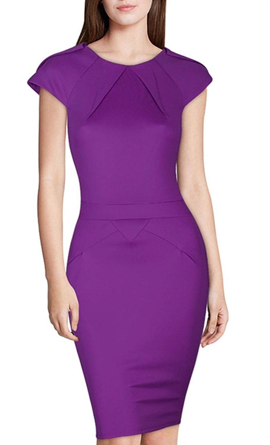 44+ Purple fitted dress information