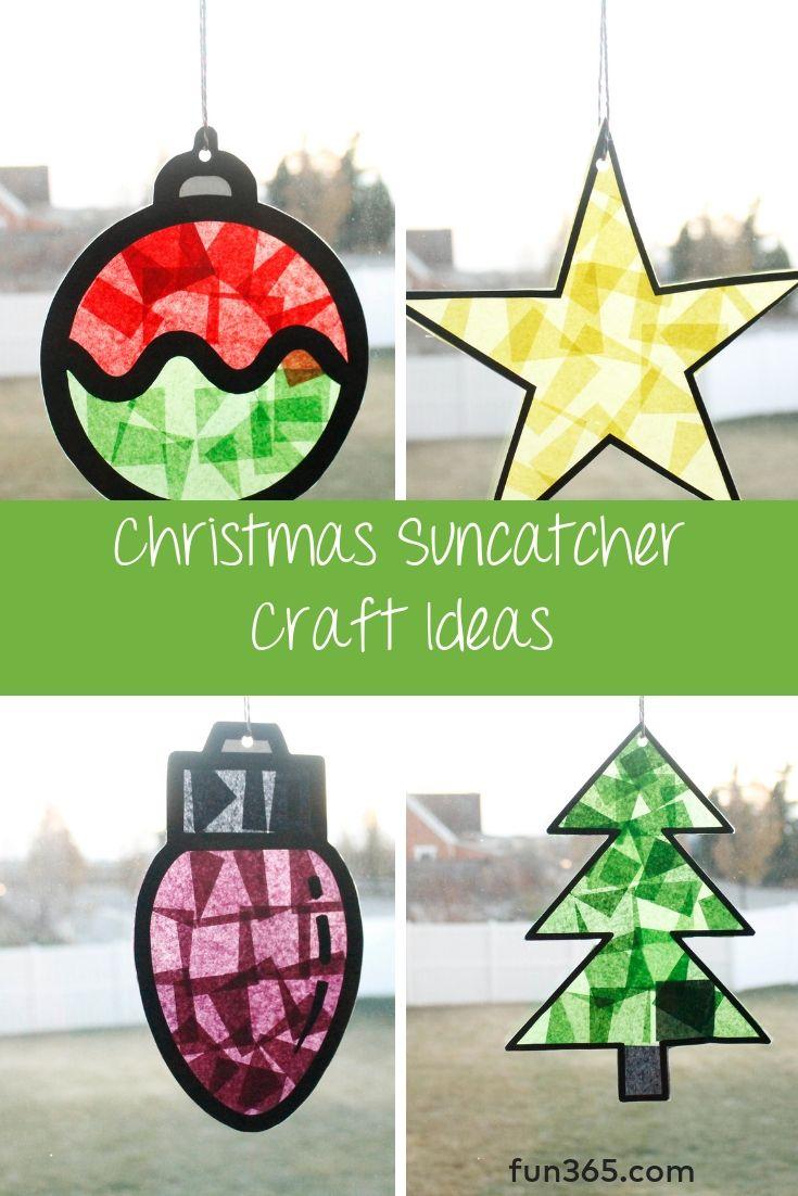 Christmas Suncatcher Craft Ideas