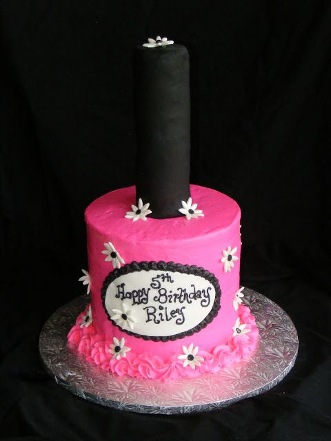Hy Birthday Nail Polish Cake