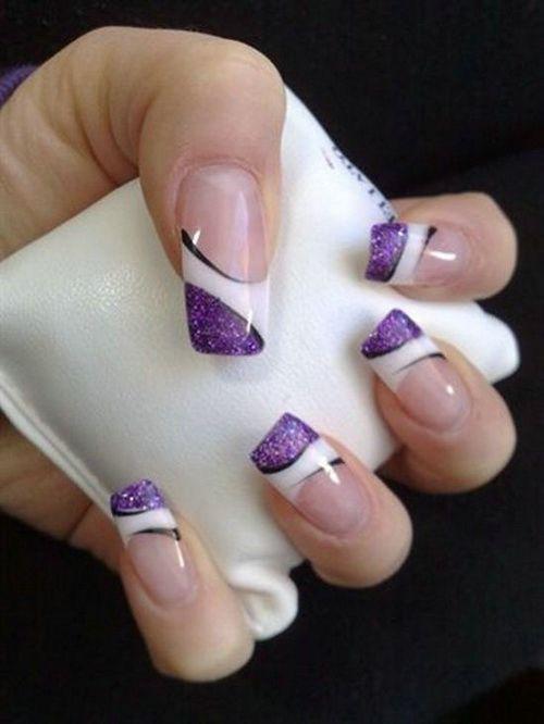 Beautiful Purple Nail Designs Nails Pinterest Purple Nail