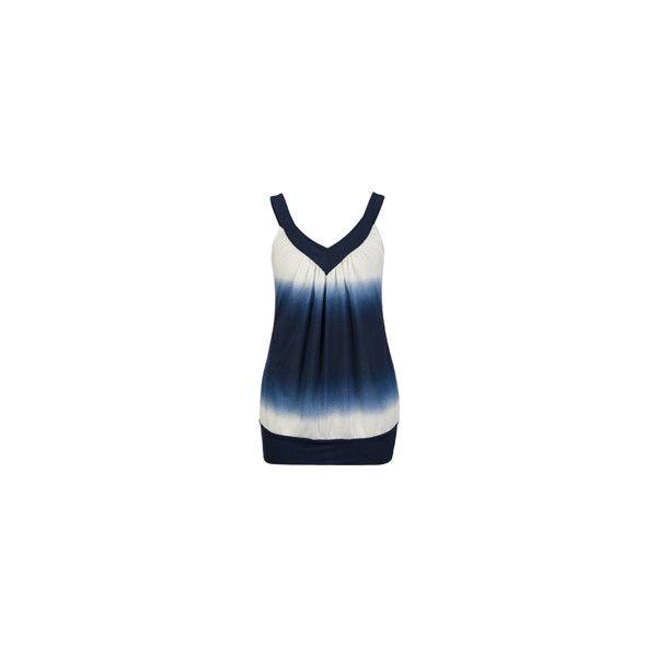 FULL TILT Ombre Womens Top 141268750 Tillys.com ($22) ❤ liked on Polyvore featuring tops, full tilt tops, ombre top, full tilt and blue top