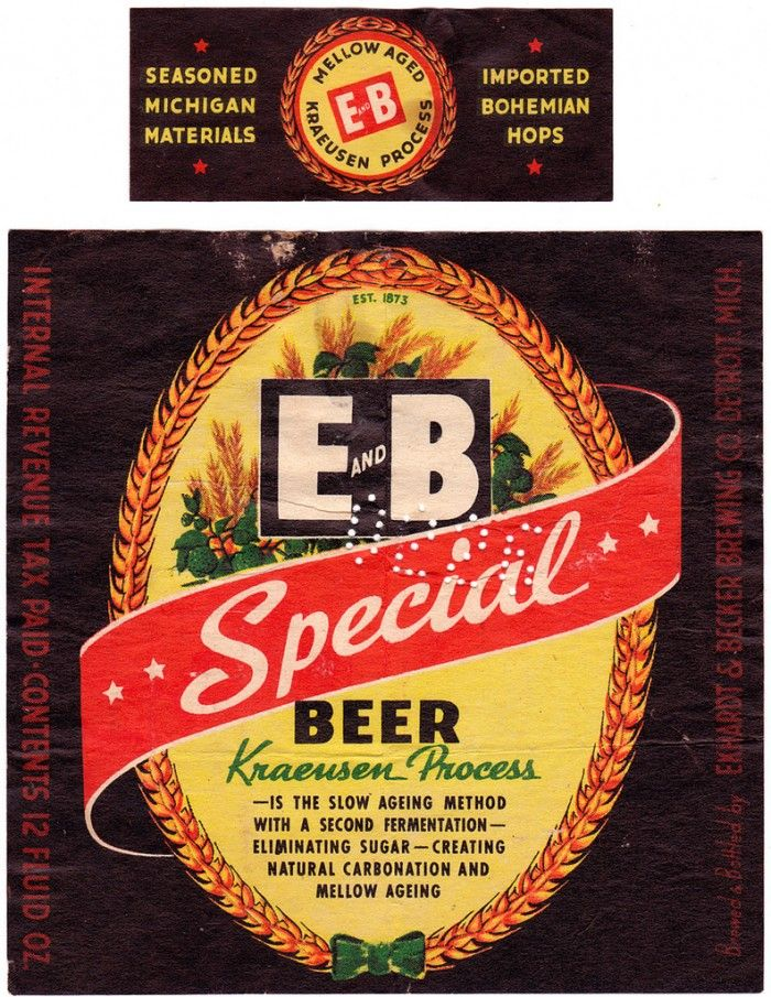 Vintage Beer Labels From Michigan  Graphics And Brewery Logos